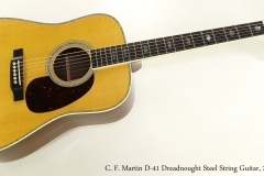 C. F. Martin D-41 Dreadnought Steel String Guitar, 2017  Full Front View
