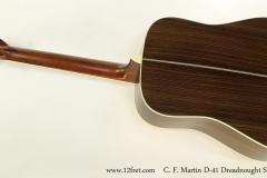C. F. Martin D-41 Dreadnought Steel String Guitar, 2017  Full Rear VIew