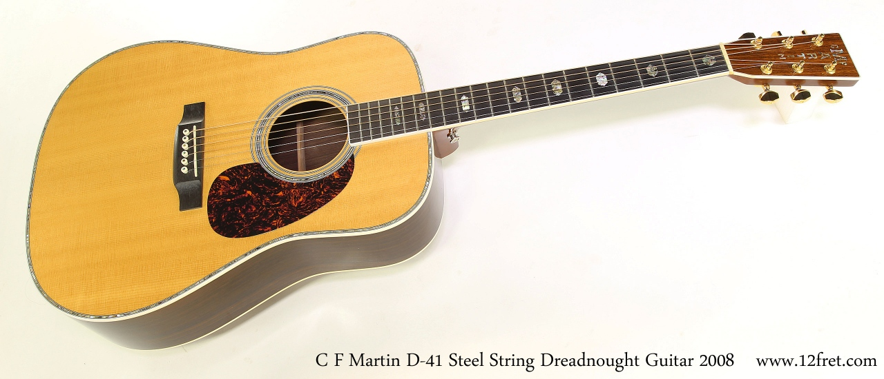 C F Martin D-41 Steel String Dreadnought Guitar 2008   Full Front View