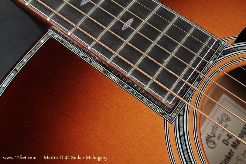 Martin D-42 Sinker Mahogany inlay detail