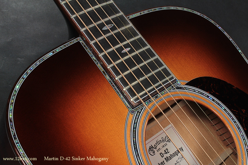 Martin D-42 Sinker Mahogany top detail