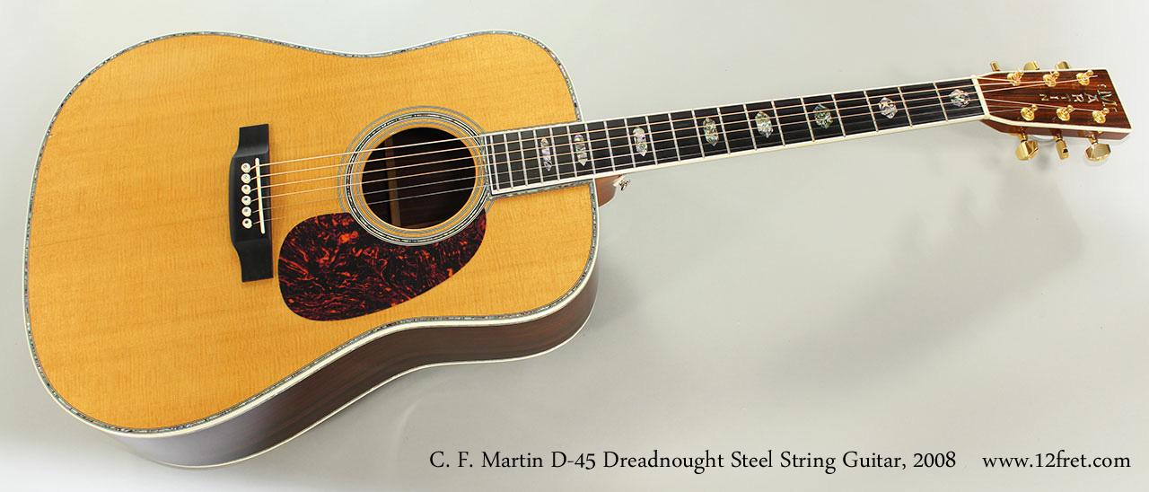2008 c f martin d 45 dreadnought steel string guitar. Black Bedroom Furniture Sets. Home Design Ideas