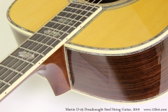 Martin D-45 Dreadnought Steel String Guitar, 2019 Heel View