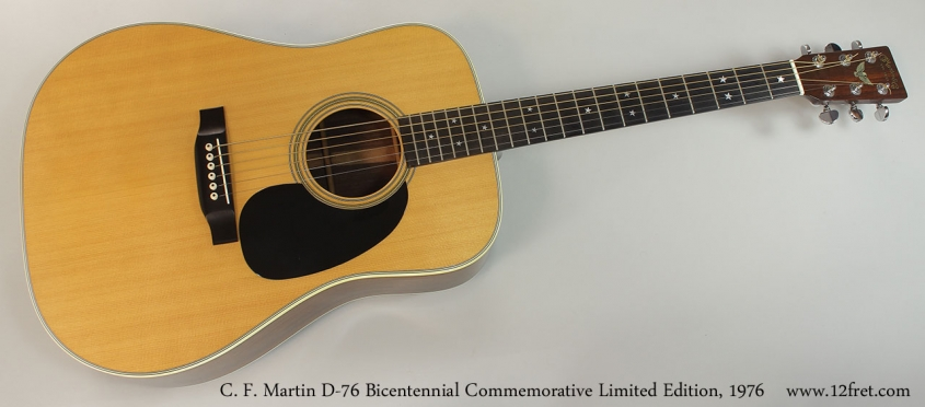 C. F. Martin D-76 Bicentennial Commemorative Limited Edition, 1976 Full Front View