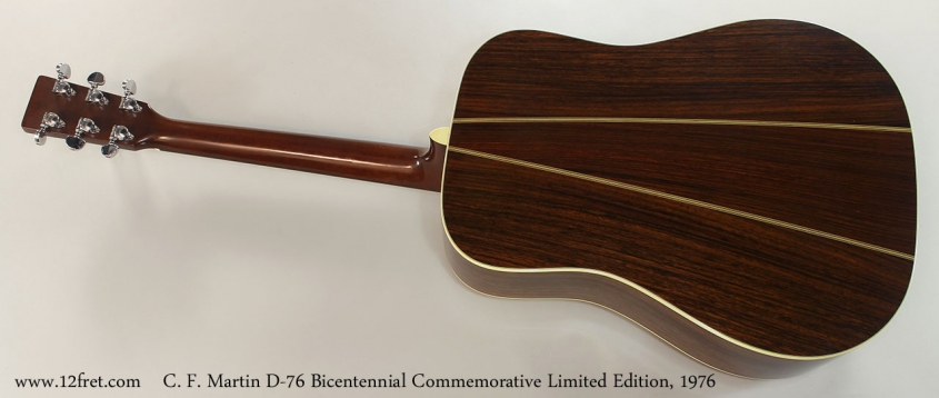 C. F. Martin D-76 Bicentennial Commemorative Limited Edition, 1976 Full Rear View