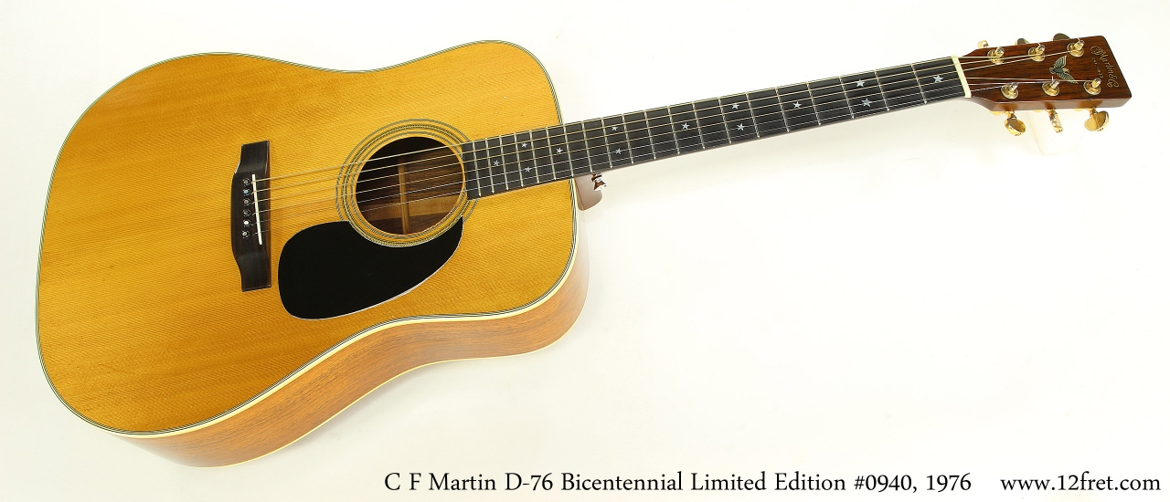 C F Martin D-76 Bicentennial Limited Edition #0940, 1976    Full Front View