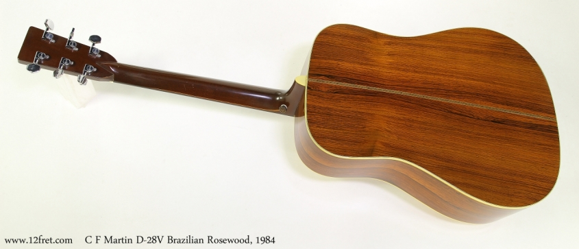 C F Martin D-28V Brazilian Rosewood, 1984  Full Rear View