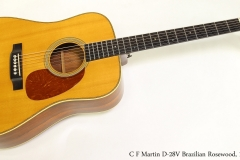 C F Martin D-28V Brazilian Rosewood, 1984  Full Front View