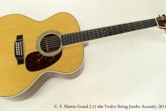 C. F. Martin Grand J-12 40e Twelve String Jumbo Acoustic, 2011  Full Front View