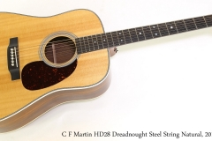 C F Martin HD28 Dreadnought Steel String Natural, 2016  Full Front View