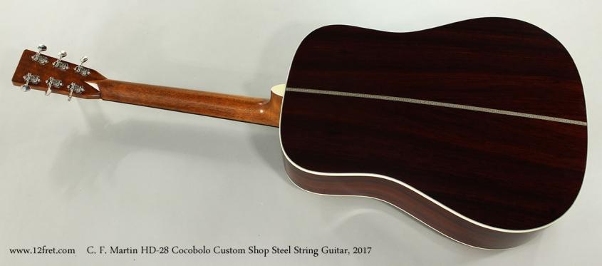 C. F. Martin HD-28 Cocobolo Custom Shop Steel String Guitar, 2017 Full Rear View