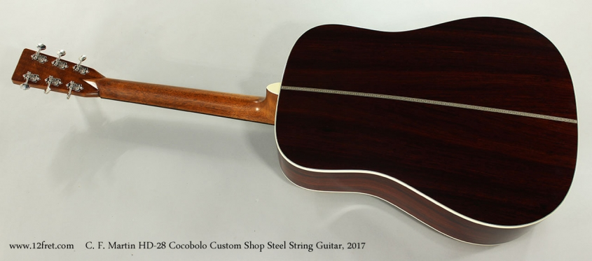 C. F. Martin HD-28 Cocobolo Custom Shop Steel String Guitar, 2017 Full Rear View