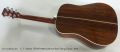 C. F. Martin HD-28 1935 Sunburst Steel String Guitar, 2013 Full Rear View