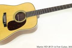 Martin HD-28 D-14 Fret Guitar, 2020 Full Front View