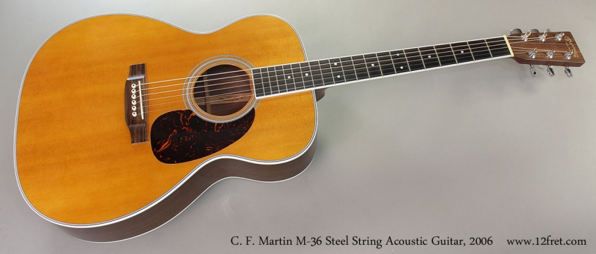 C. F. Martin M-36 Steel String Acoustic Guitar, 2006 Full Front View