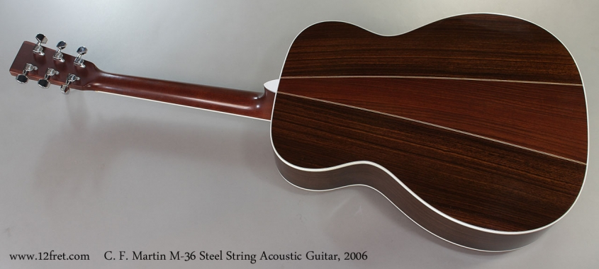 C. F. Martin M-36 Steel String Acoustic Guitar, 2006 Full Rear View