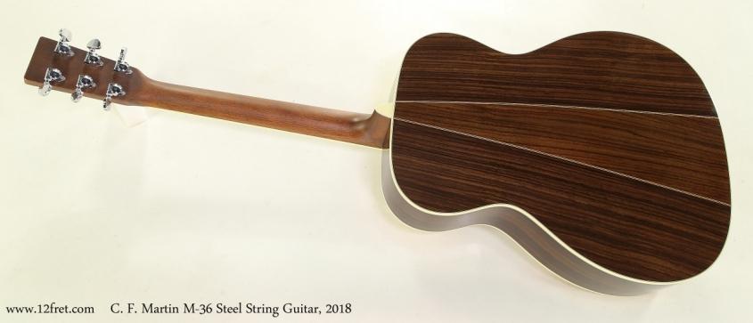 C. F. Martin M-36 Steel String Guitar, 2018 Full Rear View