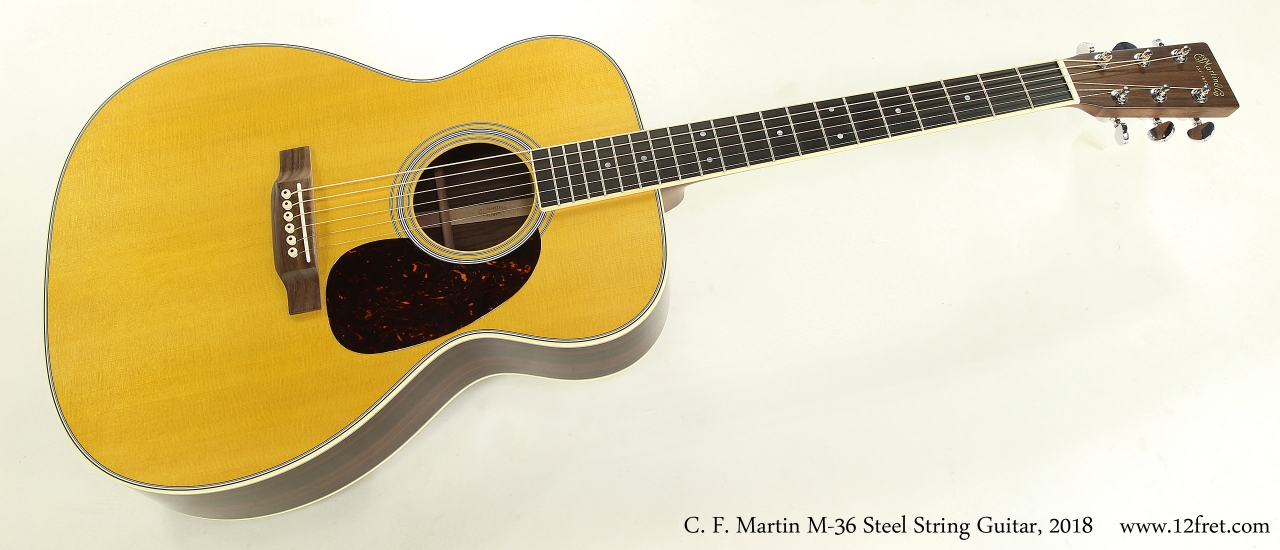 C. F. Martin M-36 Steel String Guitar, 2018 Full Front View