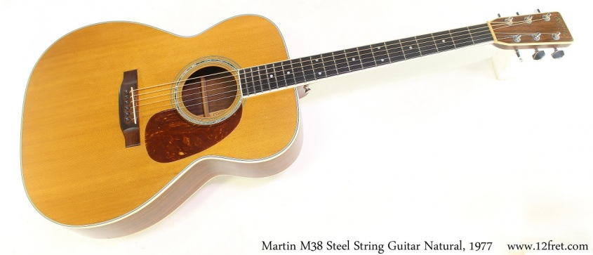 Martin M38 Steel String Guitar Natural, 1977 Full Front View