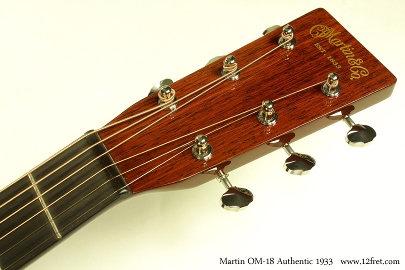 C.F. Martin OM-18 Authentic 1933 head front