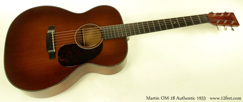 C.F. Martin OM-18 Authentic 1933 full front view