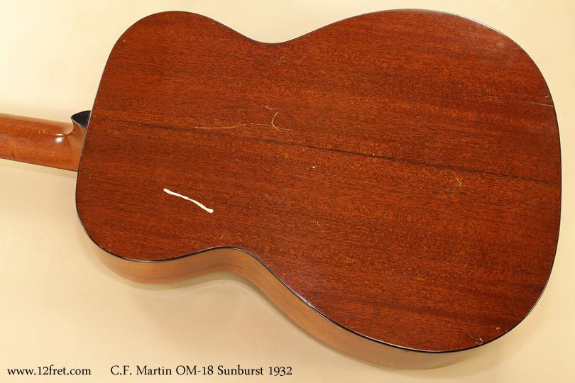 Martin OM-18 Sunburst 1932 back