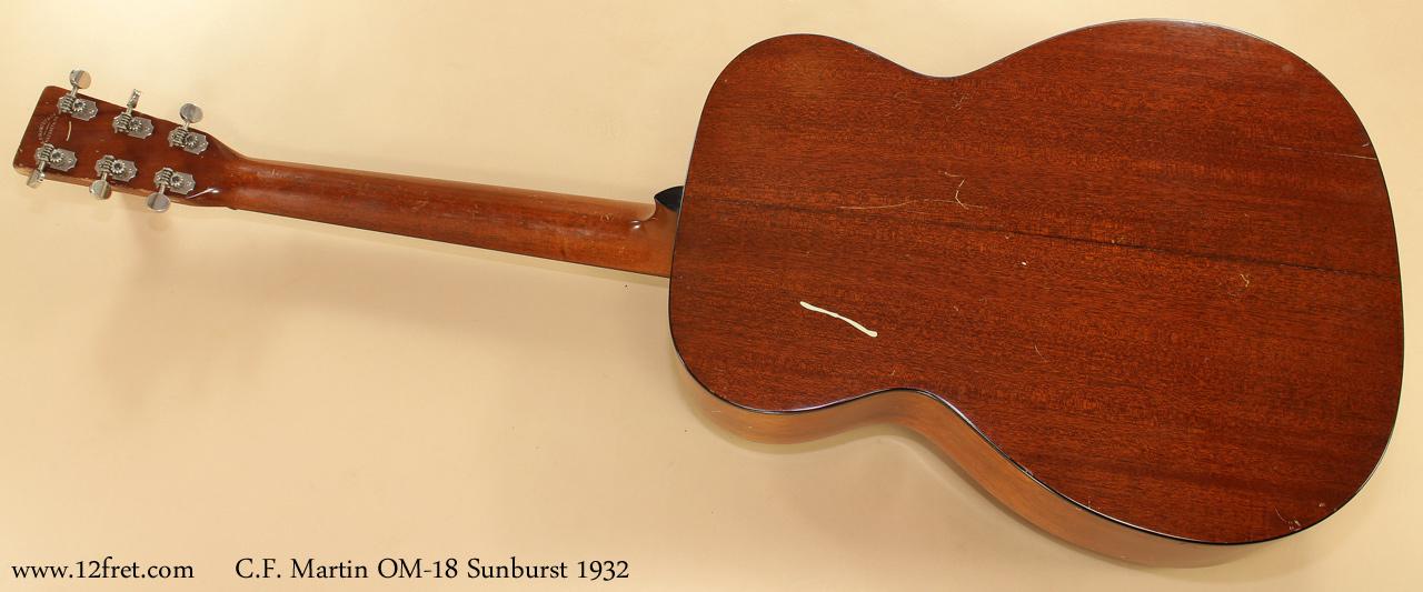 Martin OM-18 Sunburst 1932 full rear view
