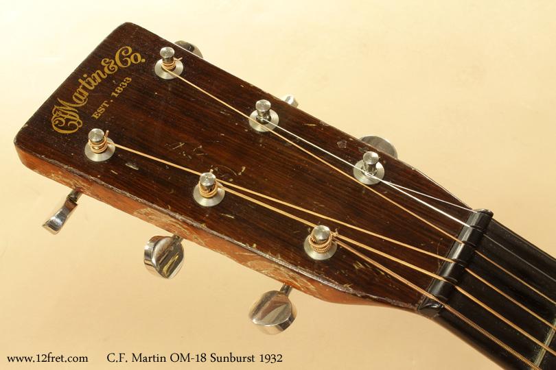 Martin OM-18 Sunburst 1932 head front