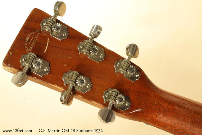 Martin OM-18 Sunburst 1932 head rear