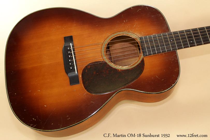 Martin OM-18 Sunburst 1932 top