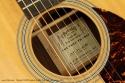 Martin OM-28 Custom Twelfth Fret 35th Anniversary 2011 label