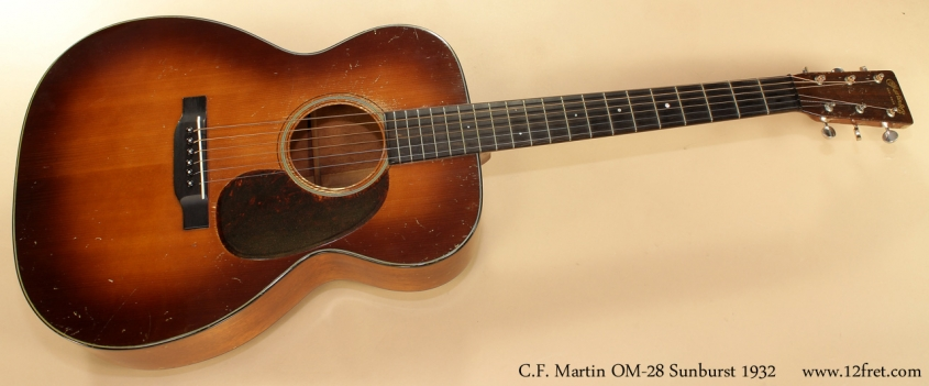 Martin OM-18 Sunburst 1932 full front view