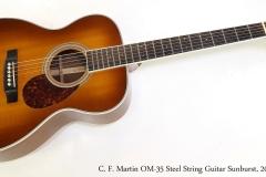 C. F. Martin OM-35 Steel String Guitar Sunburst, 2006   Full Front View