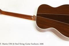 C. F. Martin OM-35 Steel String Guitar Sunburst, 2006   Full Rear View