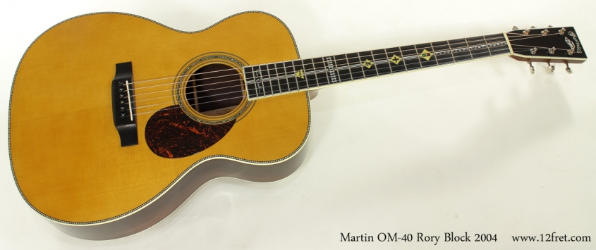 Martin OM-40 Rory Block 2004 full front view