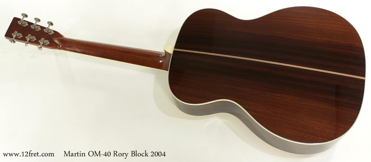 Martin OM-40 Rory Block 2004 full rear view