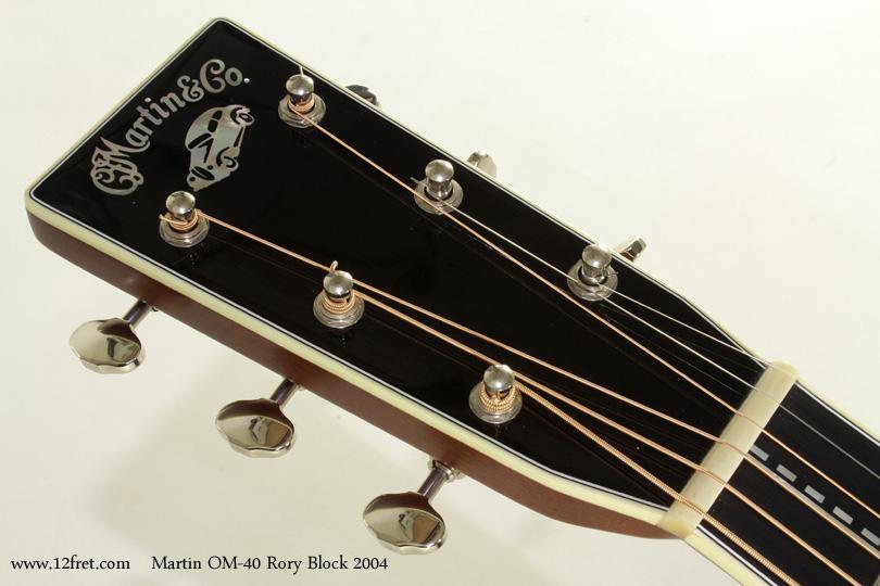 Martin OM-40 Rory Block 2004 head front