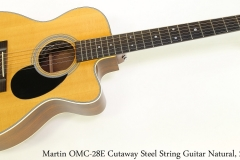 Martin OMC-28E Cutaway Steel String Guitar Natural, 2006 Full Front View