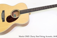 Martin OME Cherry Steel String Acoustic, 2018 Full Front View