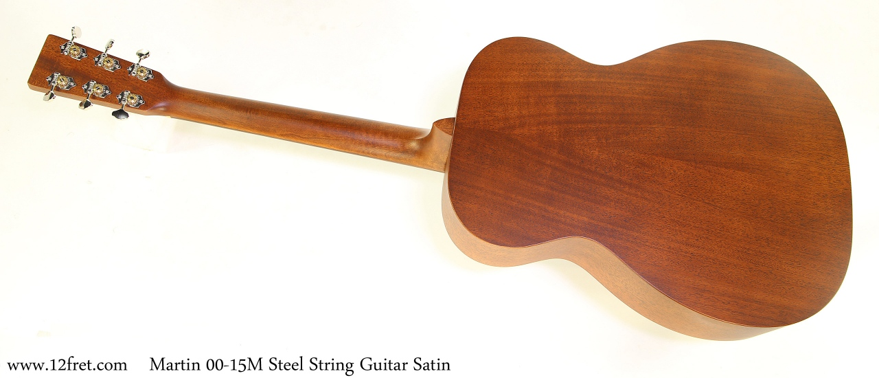 Martin 00-15M Steel String Guitar Satin Full Rear View
