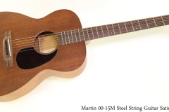 Martin 00-15M Steel String Guitar Satin Full Front View