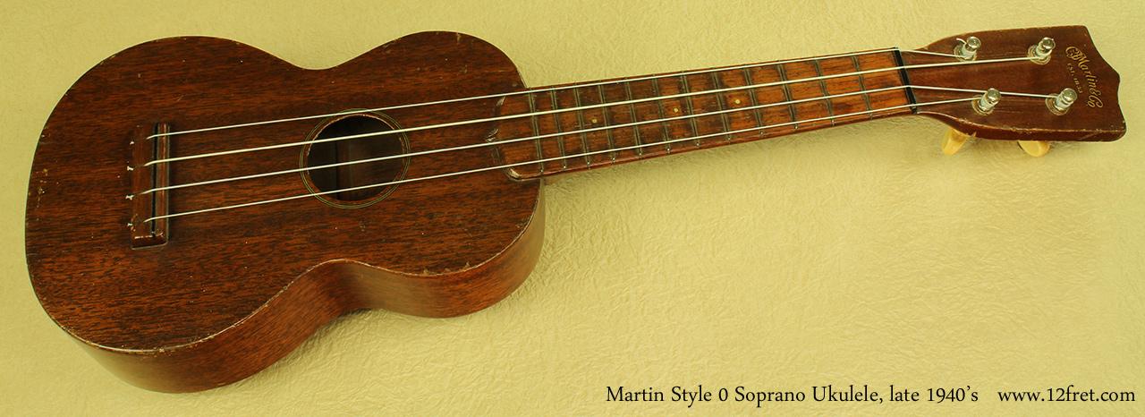 Martin Style 0 Soprano Uke late 1940s full front