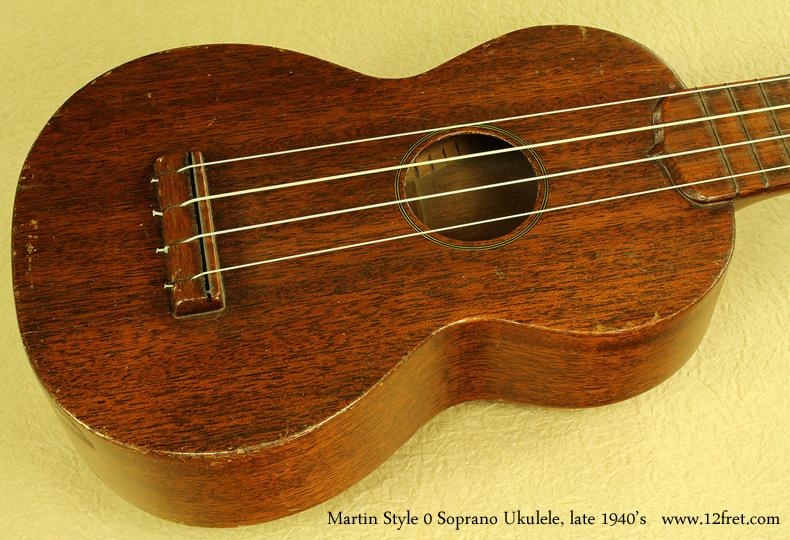 Martin Style 0 Soprano Uke late 1940s top
