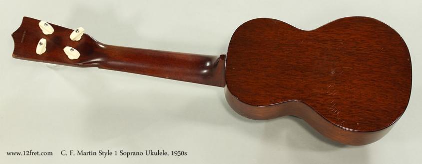 C. F. Martin Style 1 Soprano Ukulele, 1950s Full Rear View