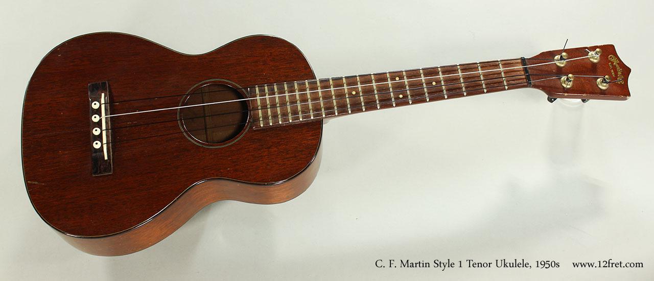 C. F. Martin Style 1 Tenor Ukulele, 1950s Full Front View