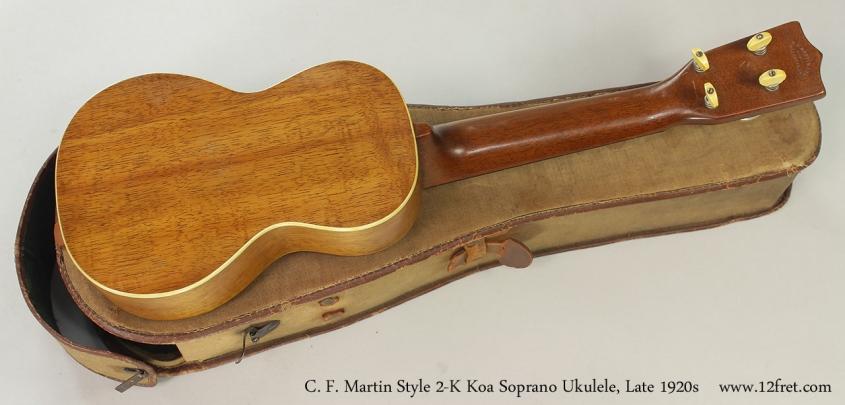 C. F. Martin Style 2-K Koa Soprano Ukulele, Late 1920s Full Rear View