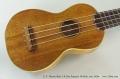 C. F. Martin Style 2-K Koa Soprano Ukulele, Late 1920s Top