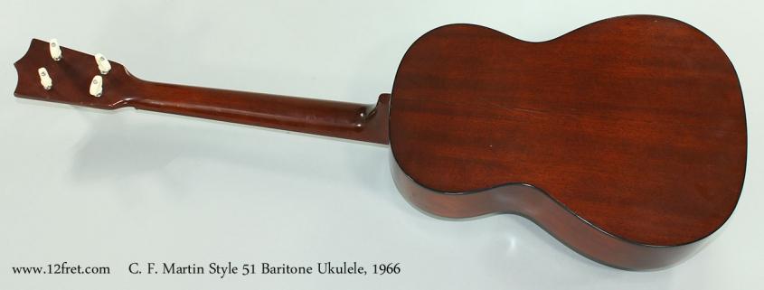 C. F. Martin Style 51 Baritone Ukulele, 1966 Full Rear View