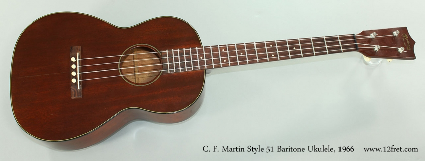 C. F. Martin Style 51 Baritone Ukulele, 1966 Full Front View