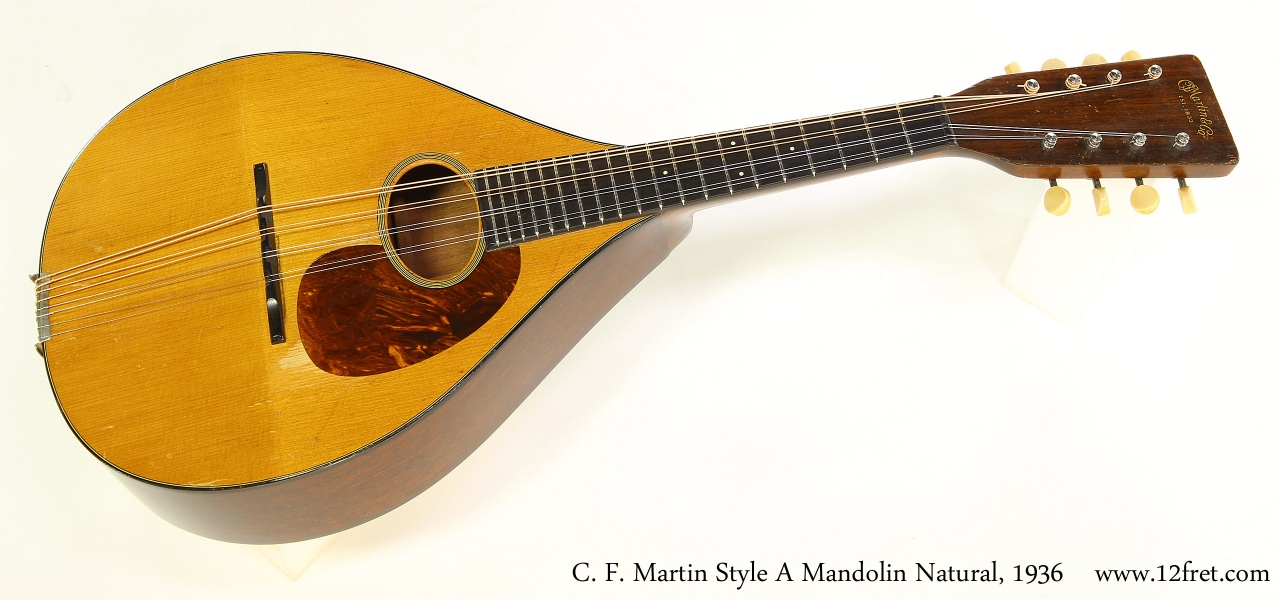 C. F. Martin Style A Mandolin Natural, 1936 Full Front View